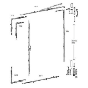 Tilt & turn door hardware 8